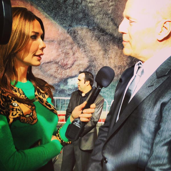 W/Bruce Willis | 'A Good Day To Die Hard' | Red Carpet | Hollywood, CA | Feb 2013