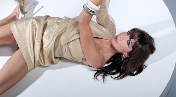 Photograph by Todd Phillip | Styled by Shari Bloch, Koko & Palenki | Hair & Make-up by Javier Lucero | Dress, Eli Tahari Shoes, YSL Jewelry, Koko & Palenki