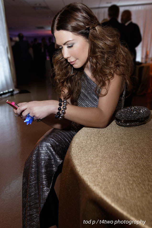 Me texting?! Never! | Winterfest Ball | Hard Rock, Hollywood | Dec 2013